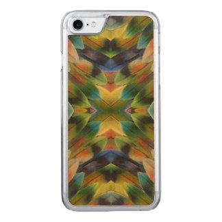 Lovebird feather kaleidoscope carved iPhone 7 case