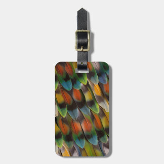 Lovebird Feather Pattern Luggage Tag