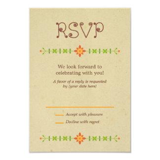 Lovebird Owls Wedding RSVP 9 Cm X 13 Cm Invitation Card