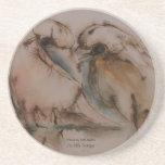 Lovebird Sandstone Coaster