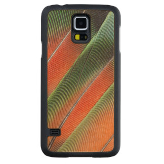 Lovebird Tail Feather Design Carved Maple Galaxy S5 Case