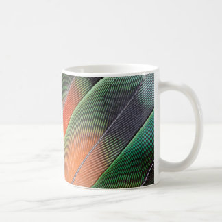 Lovebird Tail Feather Design Coffee Mug