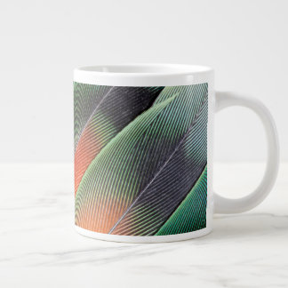 Lovebird Tail Feather Design Large Coffee Mug