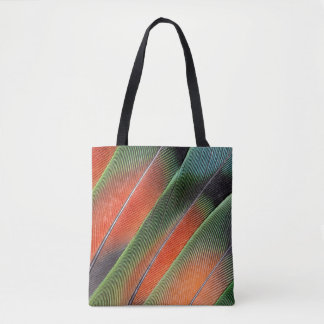 Lovebird Tail Feather Design Tote Bag