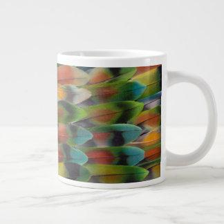 Lovebird Tail Feather Pattern Large Coffee Mug