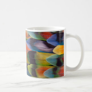 Lovebird Tail Feathers Abstract Coffee Mug