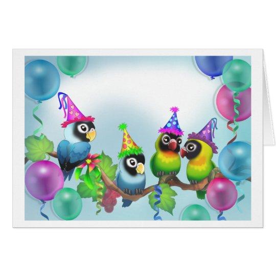Lovebirds Birthday Card