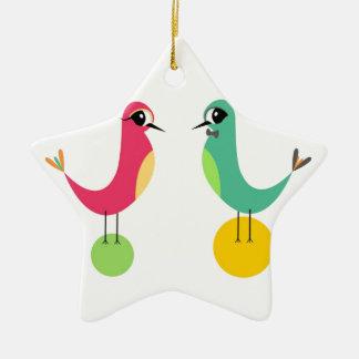 Lovebirds Christmas Ornament