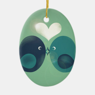 Lovebirds Christmas Ornament