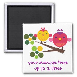 Lovebirds Customizable Square Magnet