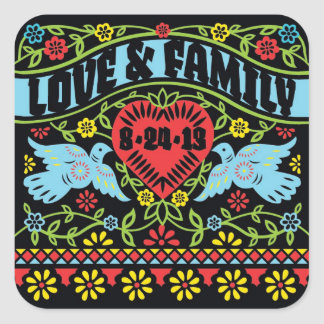 Lovebirds Customized Sqaure Sticker