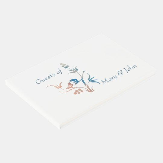 Lovebirds Friends and Family Guest Book