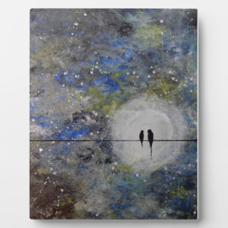 Lovebirds in a Storm Plaque