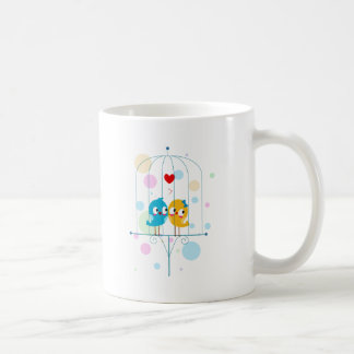 Lovebirds in Cage Coffee Mugs