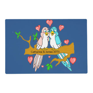 Lovebirds Laminated Placemat