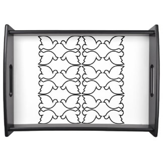 Lovebirds / Large Serving Tray, Black Serving Tray