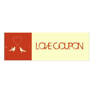 Lovebirds Love Coupon Pack Of Skinny Business Cards