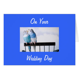 **LOVEBIRDS MARRY**-LOVEBIRDS TO SHOW HOW YOU CARE CARD
