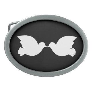 Lovebirds / Oval Belt Buckle