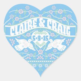 Lovebirds papel picado style customized sticker