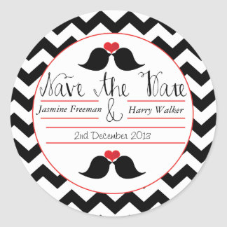 Lovebirds  'Save The Date' Wedding Stickers