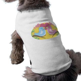 Lovebirds Sleeveless Dog Shirt