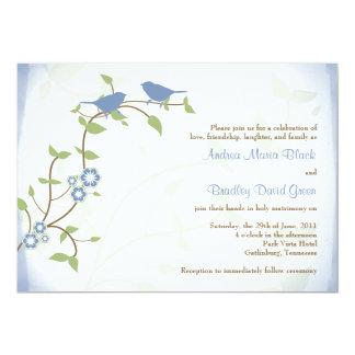 """Lovebirds Songbirds Birds Wedding Invitation 5"""" X 7"""" Invitation Card"""