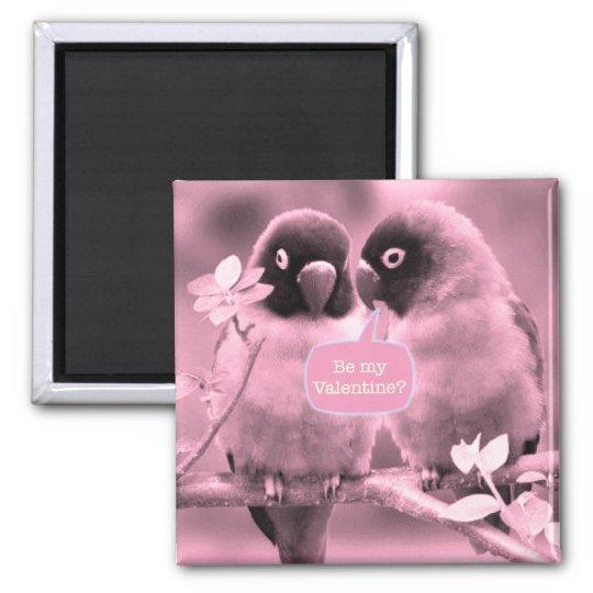 Lovebirds Square Magnet