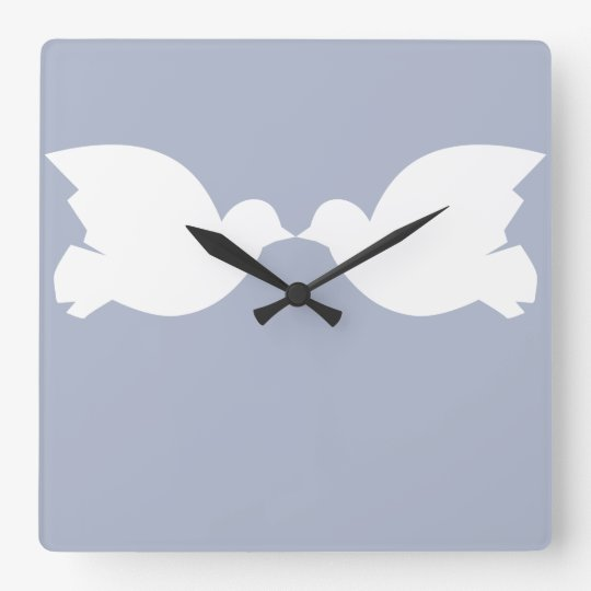 Lovebirds / Square Wall Clock