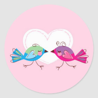 Lovebirds Stickers