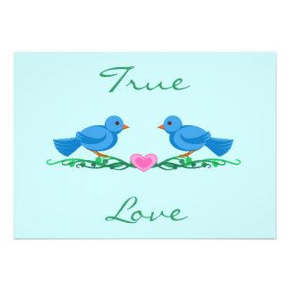 Lovebirds True Love Wedding Invitations