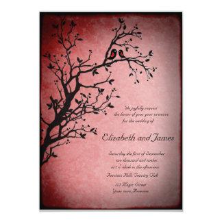 Lovebirds wedding invitation