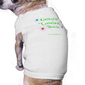 Lovebug Dachshund Pet shirt with flowers