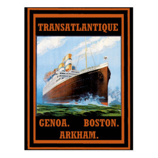 Lovecraft Cruise Lines: Arkham Postcard