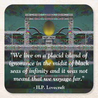Lovecraft Quote Fantasy Art Coaster