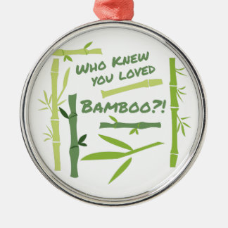 Loved Bamboo Silver-Colored Round Decoration