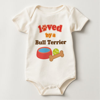 Loved By A Bull Terrier (Dog Breed) Baby Bodysuit