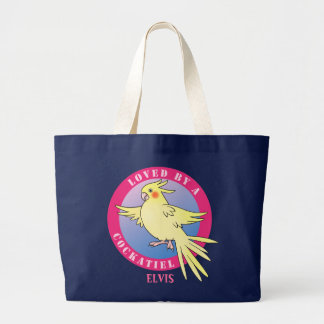 Loved by a Cockatiel Bird Pink Bag