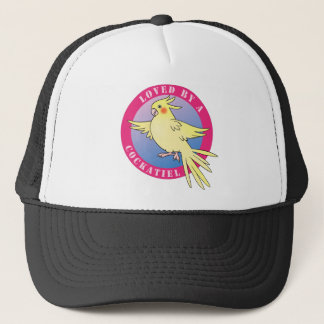 Loved by a Cockatiel Bird Pink Cap