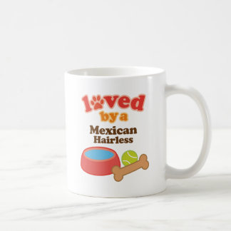 Loved By A Mexican Hairless (Dog Breed) Basic White Mug