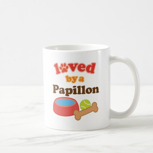 Loved By A Papillon (Dog Breed) Mugs