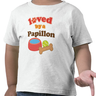 Loved By A Papillon Dog Breed T Shirt