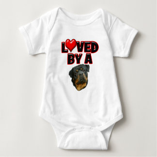 Loved by a Rottweiler 2 Baby Bodysuit
