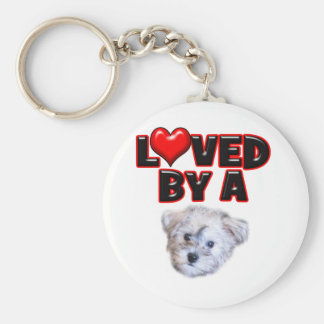 Loved by a Schnoodle Key Ring