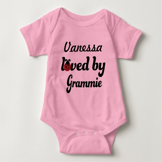 Loved By Grammie Personalised Baby Gift Baby Bodysuit