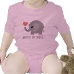 Loved By Nana Heart Elephant Baby Bodysuit