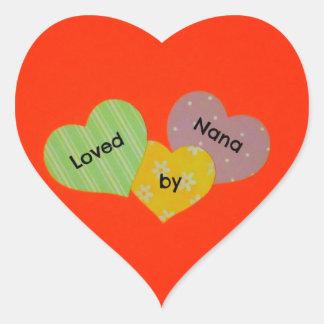Loved by Nana Heart Sticker