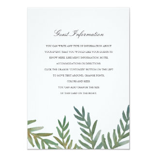 Loved Dearly Directions/Information Card 11 Cm X 16 Cm Invitation Card