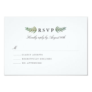 Loved Dearly RSVP Card