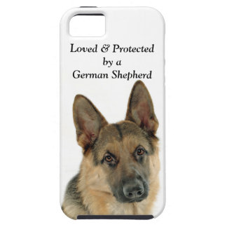 Loved & Protected by a German Shepherd Case For The iPhone 5